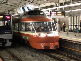 小田急ロマンスカーLSEはこね62号@新百合ヶ丘駅(2)